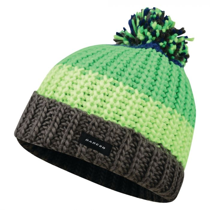 Kids Lineation Beanie Hat Acid Green