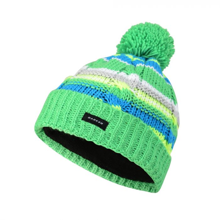 1515f9356b0 Kids Drifter Bobble Beanie Hat Acid Green. DBC321 1ZN 1