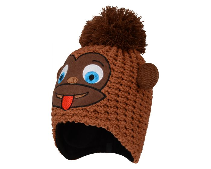Boys Brainstorm Animal Beanie Pecan Monkey