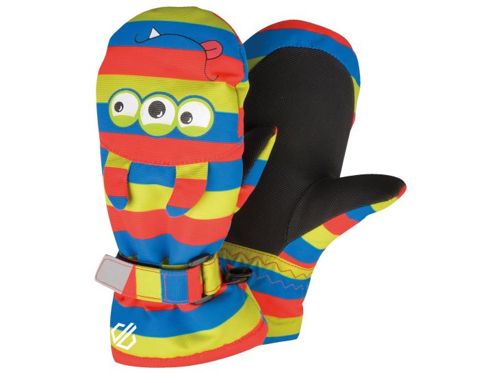Boys Brainstorm Animal Ski Mitts Fiery Red Monster