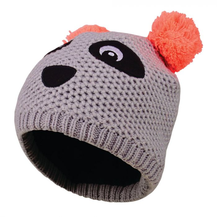 Kids Watch Out Beanie Hat Silver Flash