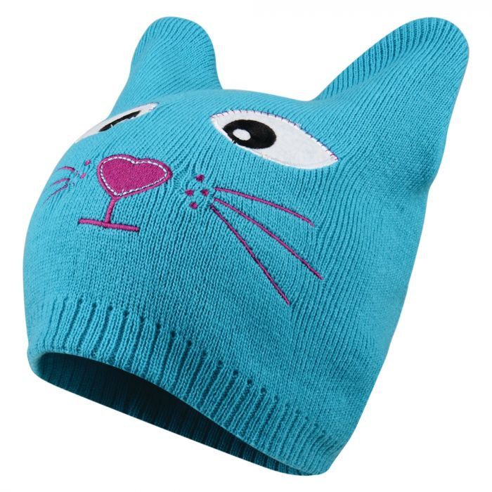 Kids Watch Out Beanie Hat Aqua