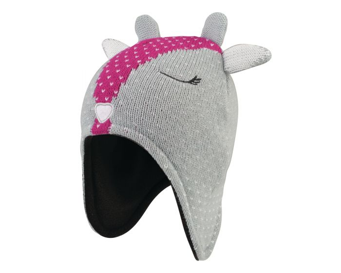 Girls Brainwave Animal Beanie Grey Deer