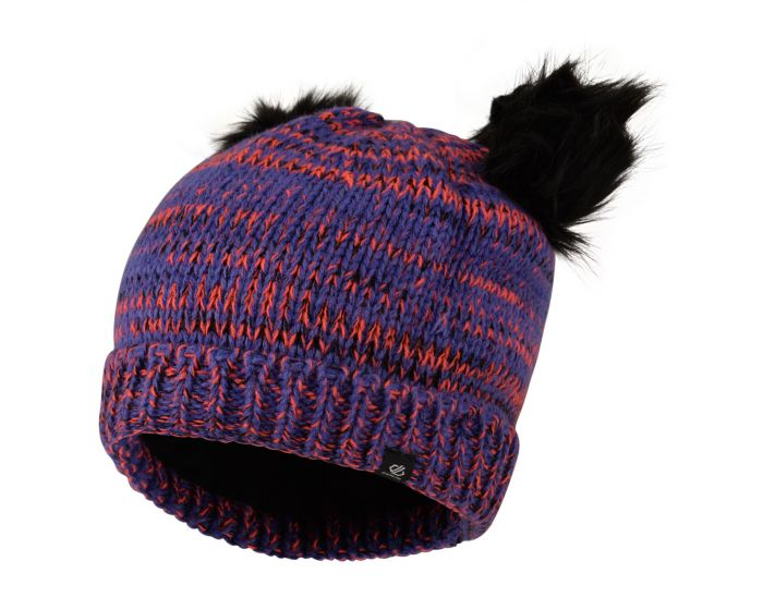 Girls Hastily Bobble Hat Simply Purple Fiery Coral