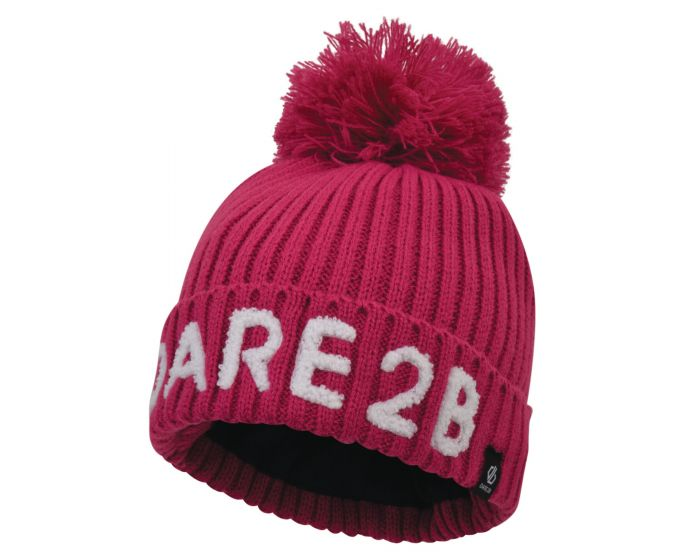 Girls Indication Dare2b Bobble Hat Fuchsia