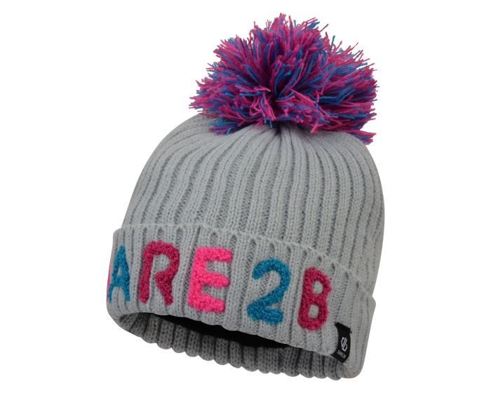 Girls Indication Dare2b Bobble Hat Argent Grey