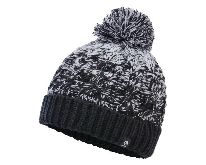 Girls Lively Ii Fleece Lined Knit Bobble Beanie Black White