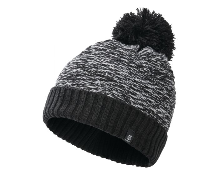Girls Hastily Ii Fleece Lined Knit Bobble Beanie Black White