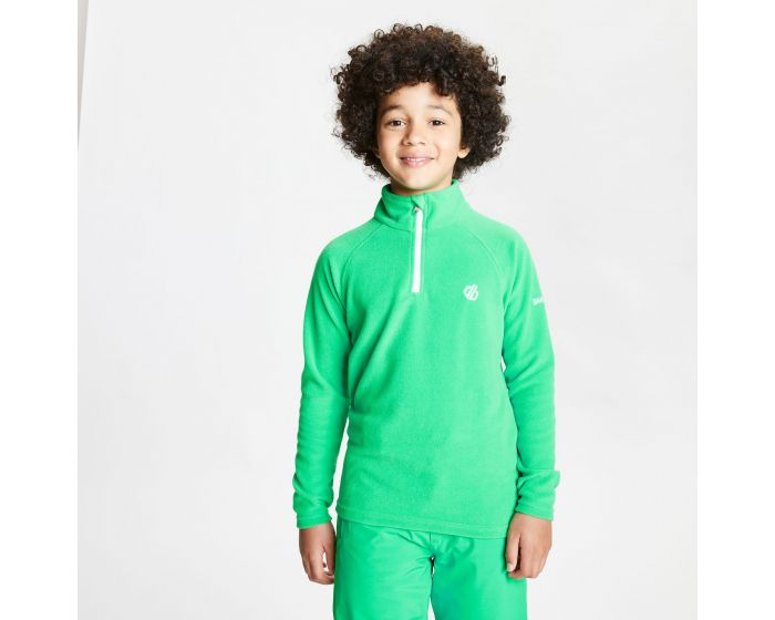 Kids Freehand Half Zip Lightweight Fleece Vivid Green