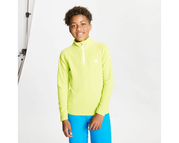 Kids Freehand Half Zip Lightweight Fleece Lime Punch