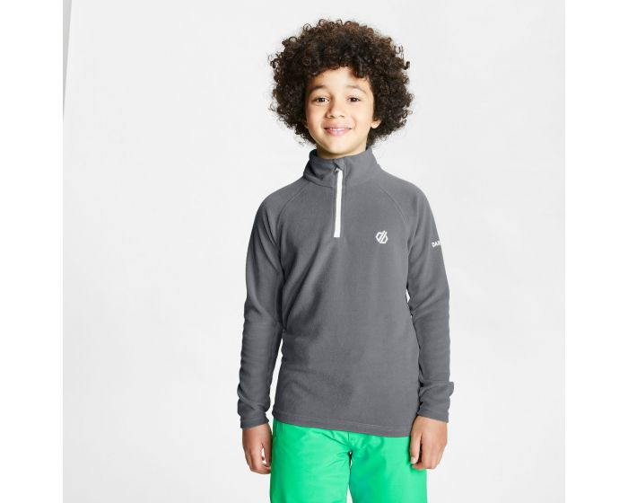 Kids Freehand Half Zip Lightweight Fleece Aluminium Grey