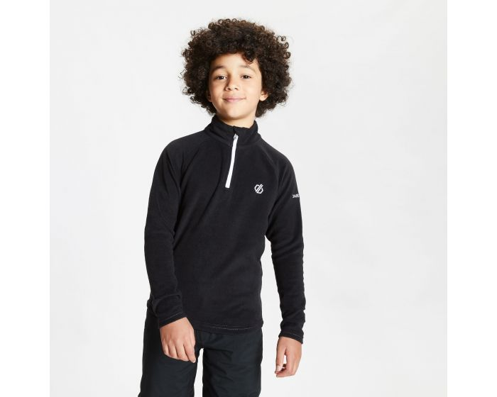 Kids Freehand Half Zip Lightweight Fleece Black