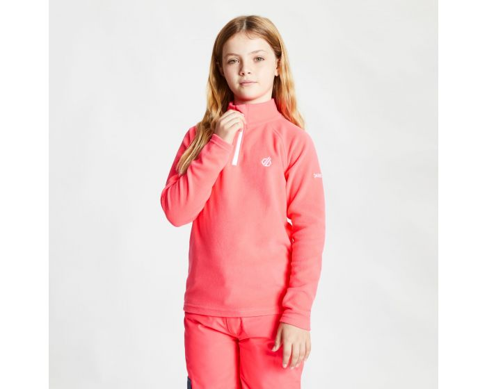 Kids Freehand Half Zip Lightweight Fleece Neon Pink