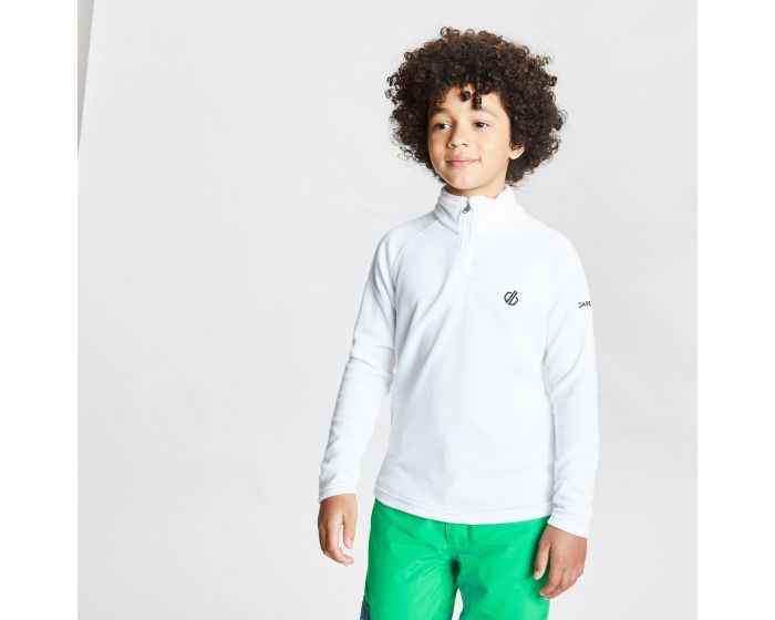 Kids Freehand Half Zip Lightweight Fleece White