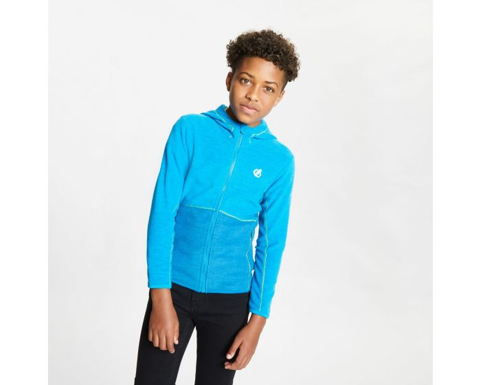 Kids Genesis Full Zip Hooded Fleece Methyl Blue Petrol Blue Marl