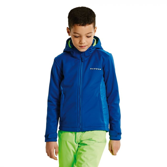 Kids Unravelled Softshell Jacket LaserBl/OxfB