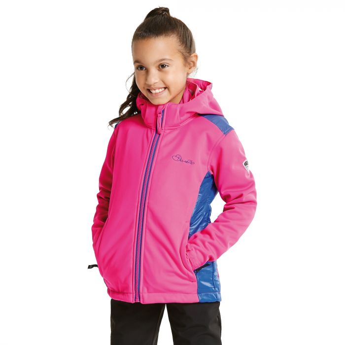 Kids Unravelled Softshell Jacket CyberPk/Clem