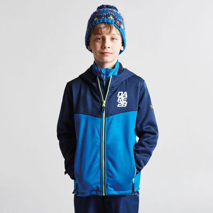 Kids Embed Hooded Softshell Jacket Athletic Blue Admiral Blue