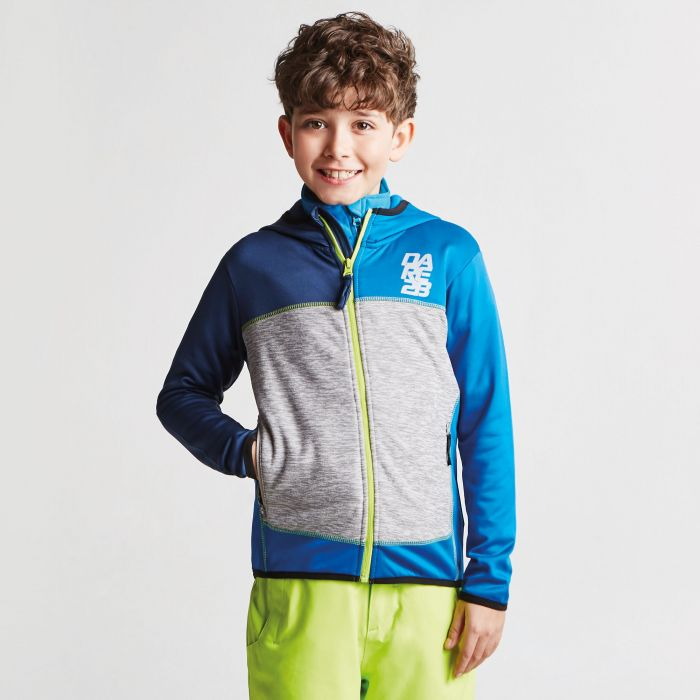 Kids Restate Full Zip Core Stretch Midlayer Admiral Blue Athletic Blue