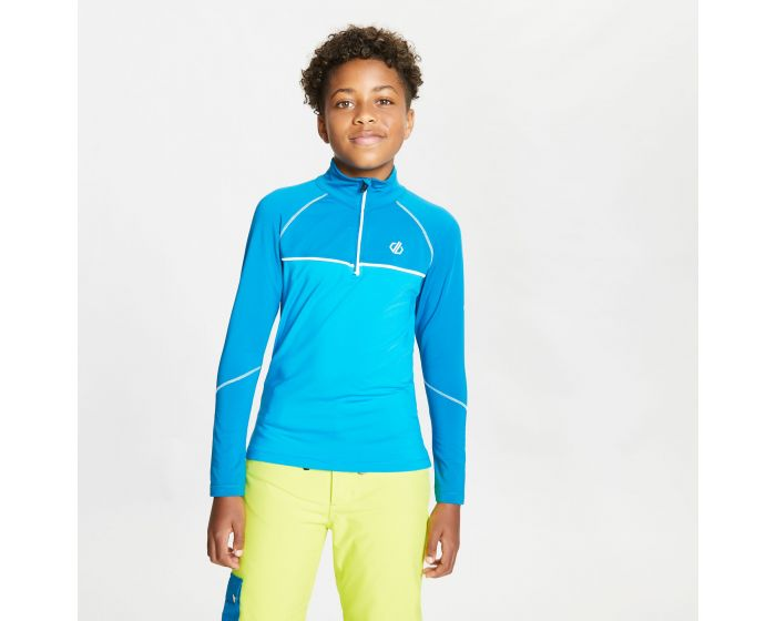 Kids Formate Core Stretch Half Zip Midlayer Petrol Blue Methyl Blue