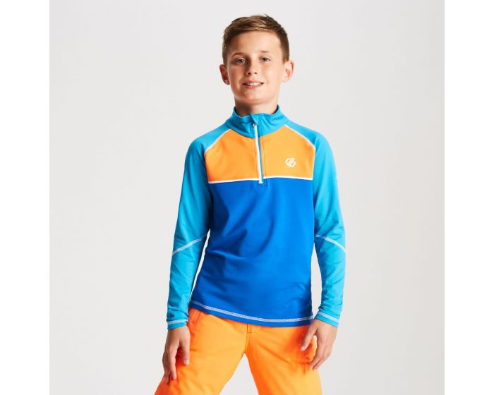 Kids Formate Core Stretch Half Zip Midlayer Atlantic Oxford Blue