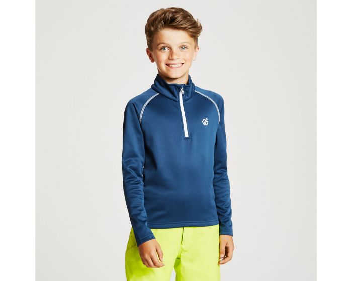 Kids Consist Core Stretch Half Zip Midlayer Admiral Blue
