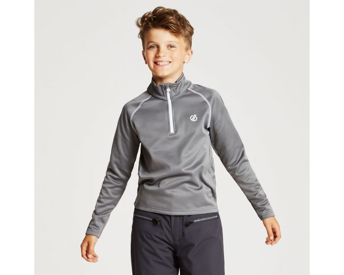 Kids Consist Core Stretch Half Zip Midlayer Aluminium Grey