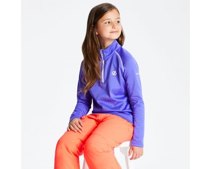 Kids Consist Core Stretch Half Zip Midlayer Simply Purple