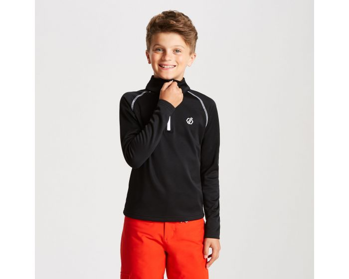 Kids Consist Core Stretch Half Zip Midlayer Black