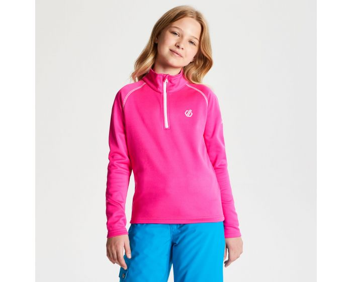 Kids Consist Core Stretch Half Zip Midlayer Cyber Pink