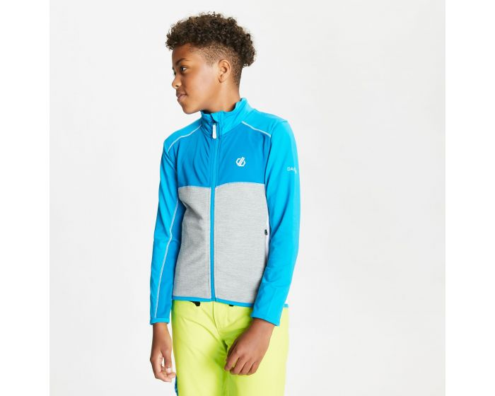 Kids Except Full Zip Lightweight Core Stretch Midlayer Petrol Blue Methyl Blue