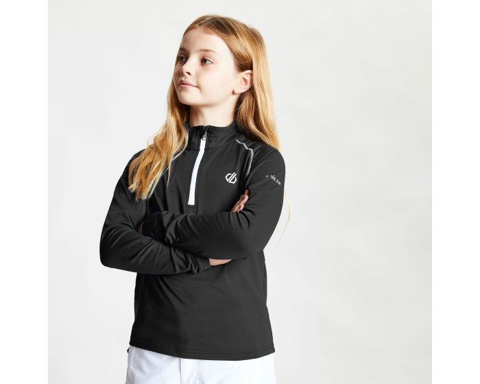 Kids Consist Ii Half Zip Lightweight Core Stretch Midlayer Black