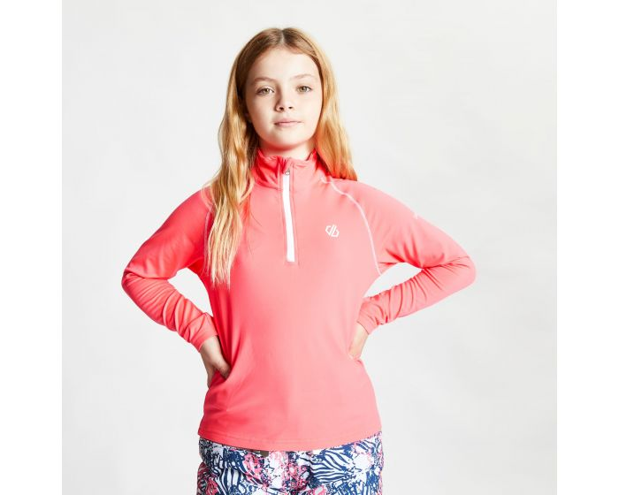 Kids Consist Ii Half Zip Lightweight Core Stretch Midlayer Neon Pink