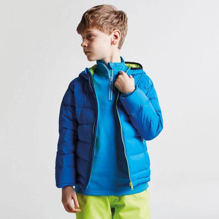 Kids Download Down Fill Hooded Jacket Athletic Blue