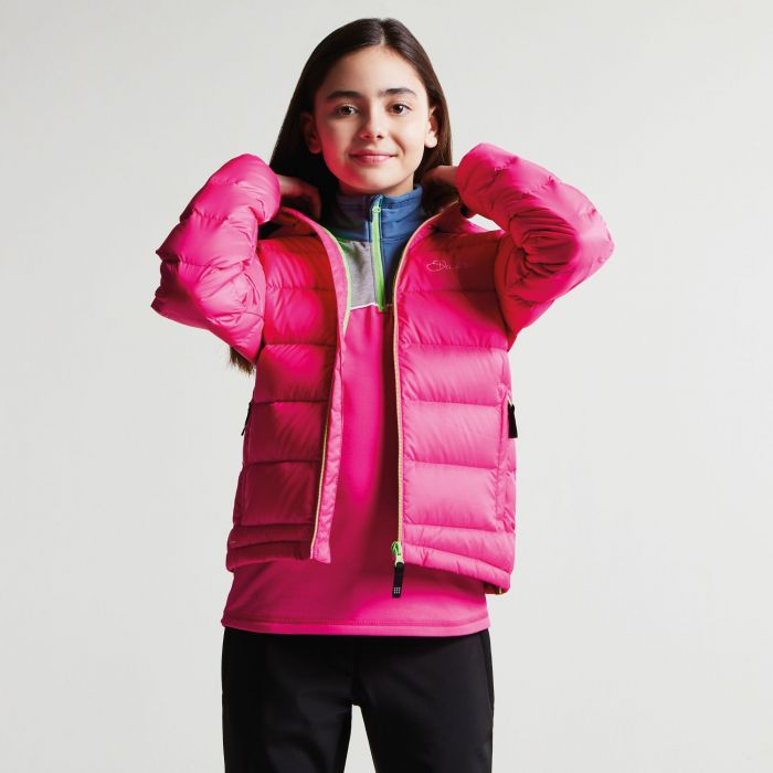 f6b51701c Kids Download Down Fill Hooded Jacket Cyber Pink. DKN334 887 1