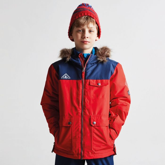 a44ff0b07b16 Kids Reckless Waterproof Insulated Ski Jacket Code Red Admiral Blue ...