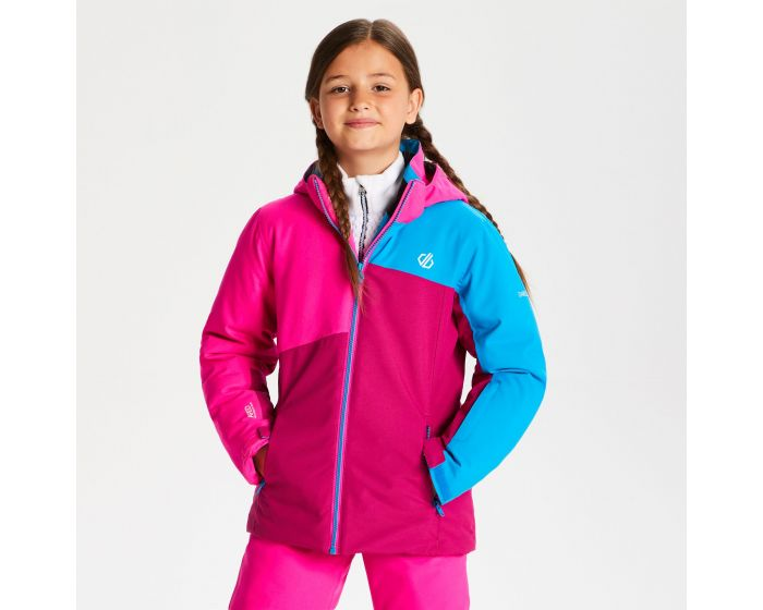 Kids Chancer Ski Jacket Fuchsia Cyber Pink