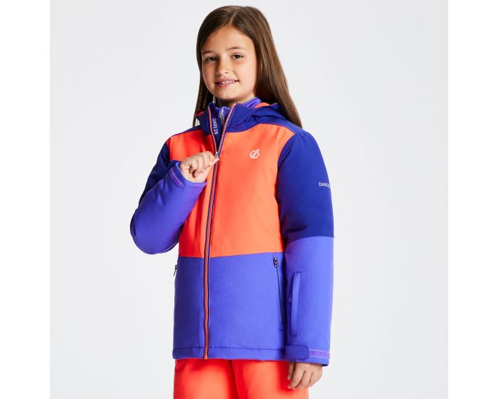 Kids Aviate Ski Jacket Simply Purple Fiery Coral Spectrum Blue