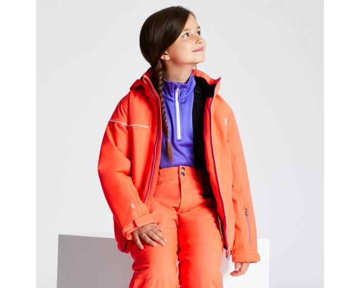Kids Entail Ski Jacket Fiery Coral