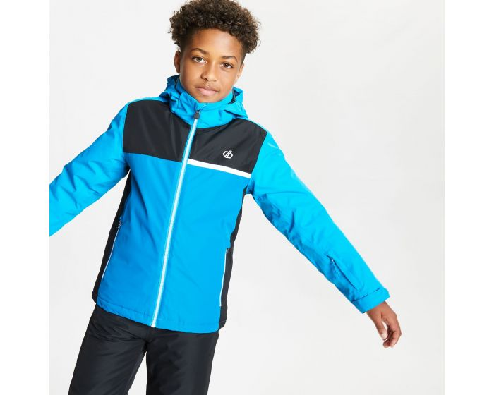Kids Depend Waterproof Insulated Hooded Ski Jacket Methyl Blue Petrol Blue