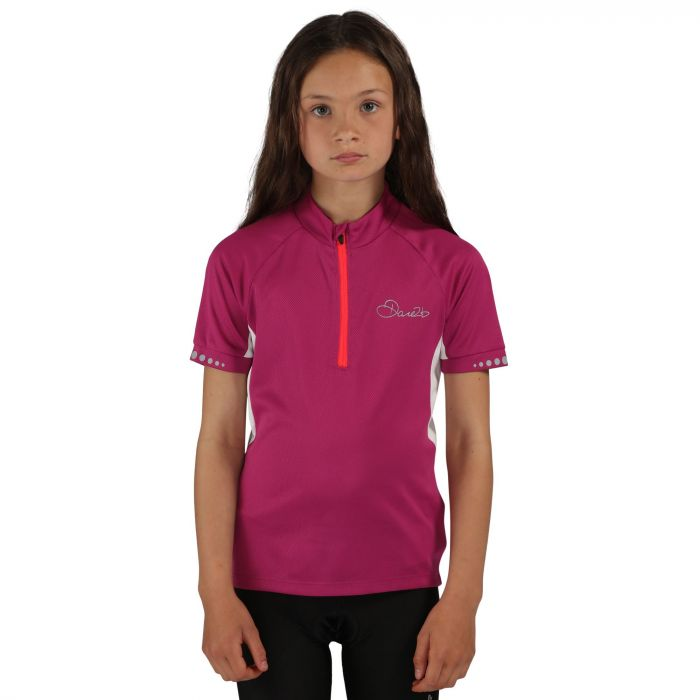 Kids Protege II Cycling Jersey Camellia Purple
