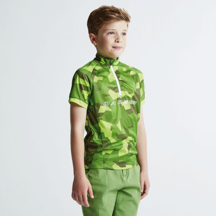 Kids Juvento Cycle Jersey Lime Punch/Cardamom