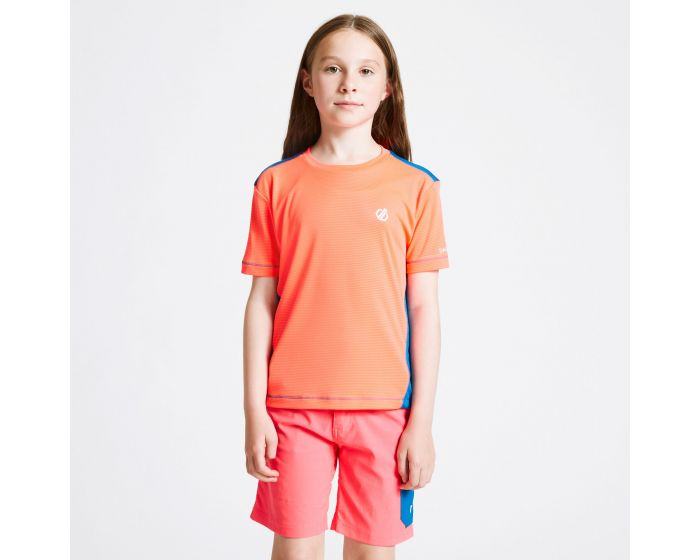 Kids Bring It On T-shirt Fiery Coral Petrol Blue