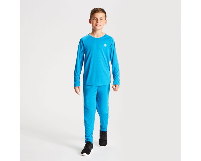Kids Elate Base Layer Set Atlantic Blue