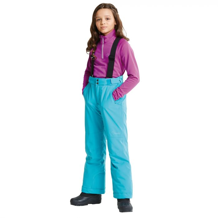 Kids Take On Ski Pants Aqua