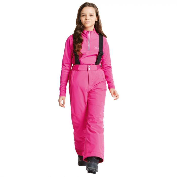 Kids Take On Ski Pants Cyber Pink