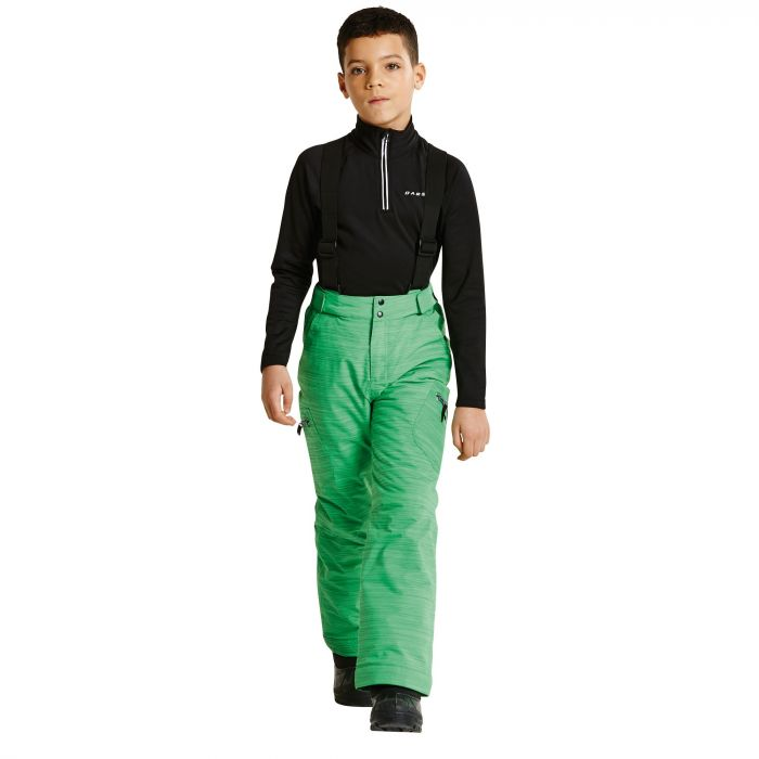 Kids Spur On Ski Pants Acid Green