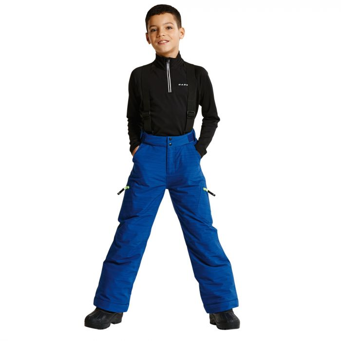 Kids Spur On Ski Pants Laser Blue