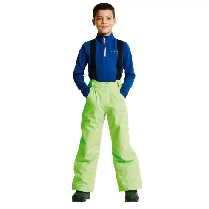 Kids Whirlwind II Ski Pants Neon Green