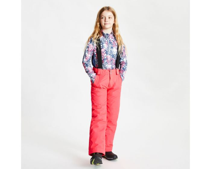 Kids Motive Waterproof Insulated Ski Pants Neon Pink